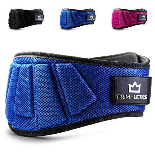 Premium Gewichthebergürtel von PRIMELETICS - Ultraleicht Trainingsgürtel für Bodybuilding, Crossfit, Krafttraining, Fitness und Powerlifting - blau