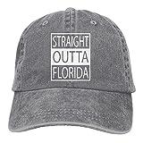 Men and Women Straight Outta Florida Vintage Jeans Baseball Cap Ash