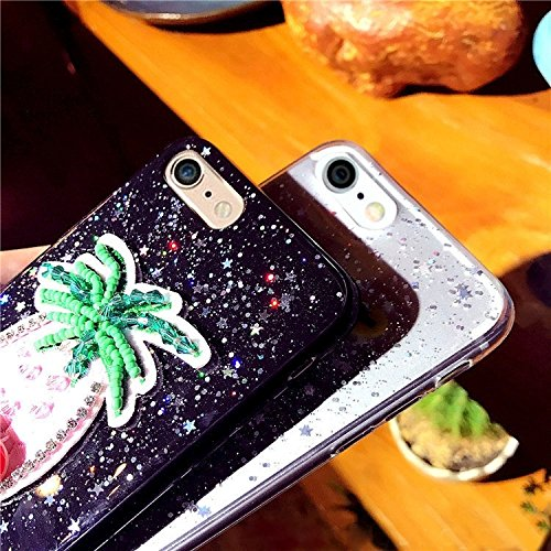 Phone Case & Hülle Für iPhone 6 Plus & 6s Plus Glitter Pulver Stickerei Ananas Muster Schutzmaßnahmen zurück Fall ( Color : Transparent ) Transparent