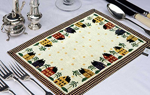 Avioni Loomkart Table Mats (Set Of Seven) With Table Runner On Jacquard...