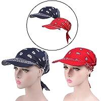 whatUneed Anti-UV Sun Protection Sun Cap, Women's Wide Brim Visor Turban Baseball Cap, Golf Sun Visor Hat for Outdoor…