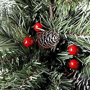 Werchristmas Rbol De Navidad Artificial Con Pias Y Bayas 21 M Diseo - Pias-navidad