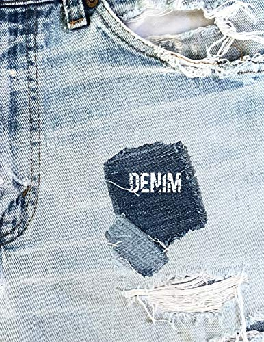 DENIM: 8.5x11 notebook DENIM JEANS groovy book for DENIM HEADS -
