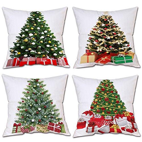 Yvelands 4PC Frohe Weihnachten Cover Decor Kissenbezug Sofa -