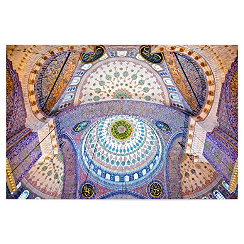 artboxONE Poster 120x80 cm Architektur Die Blaue Moschee - Bild Istanbul Mosque SA½LEYMAN (Welt Kultur Kostüm)