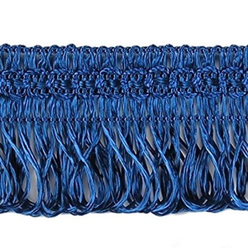 3,0 m x Posamentenborte 30 mm breit Blau / Marineblau Fransenborte Posamentenborte Bordüre Decoborte Borte Spitzenborte Shabby Chic Posamentenborte / Dekoborte Borte mit Posamenten m. Fransen Brokat Spitze Antik Jugendstil Barock