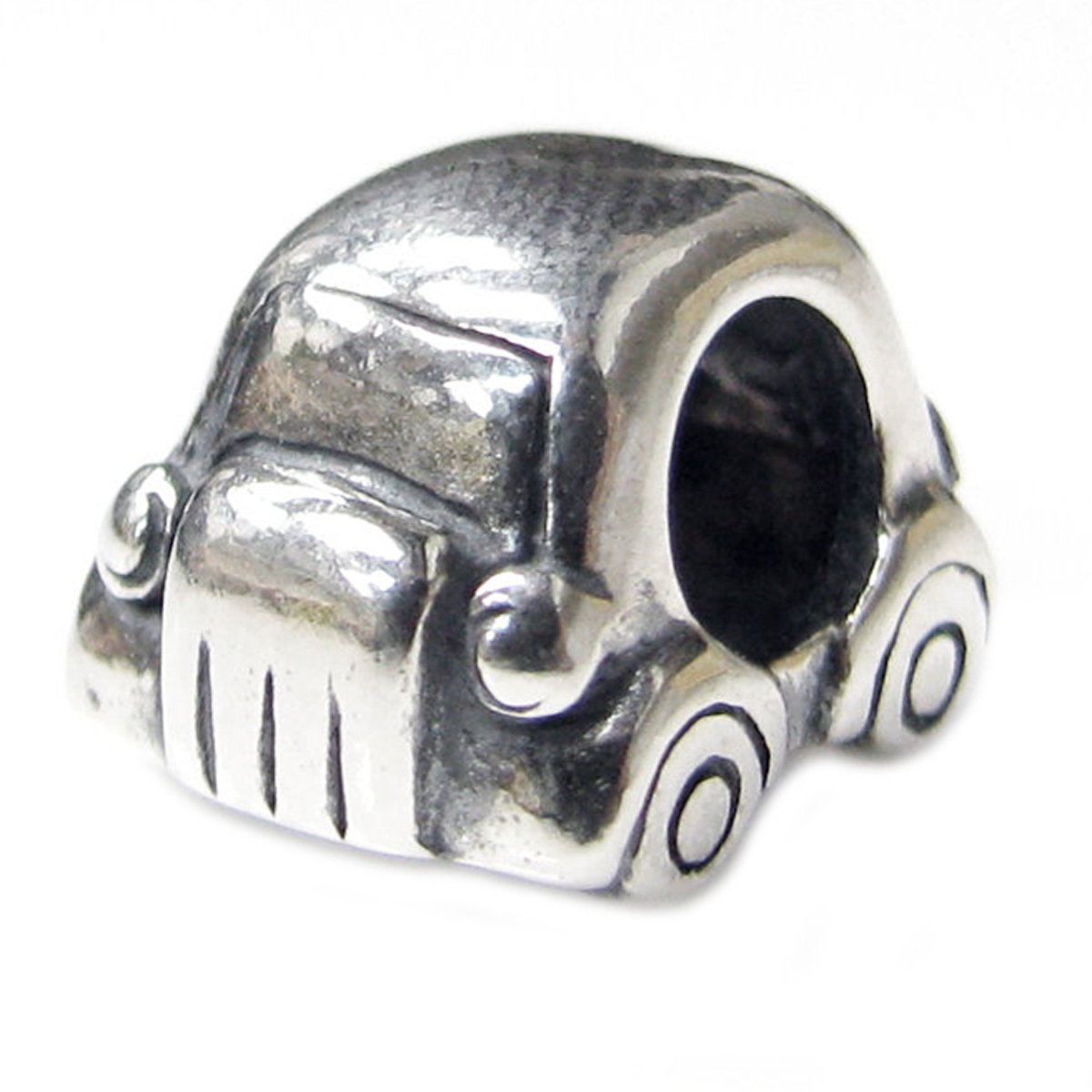 Queenberry Sterling Silver Mini Car European Style Bead Charm