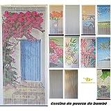 Cortina de puerta de bambú, interior y exterior, puerta interior, puerta ventana, medidas 90x200, varios modelos para elegir de MadeInNature® (Modèle 7 Soleil du sud)