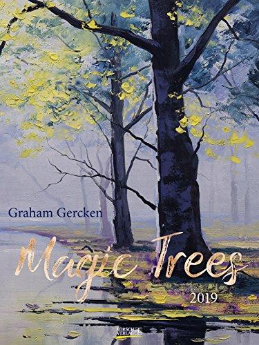 Magic Trees - Graham Gercken 200819 2019: Großer Kunstkalender. Hochwertiger Wandkalender mit Werken von Bäumen von Graham Gercken. Kunst Gallery Format: 48 x 64 cm, Foliendeckblatt -