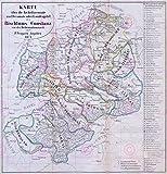 MAP ANTIQUE ANON 1871 DIOCESE KONSTANZ CONSTANCE REPLICA