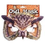 Realistic Masque facial Semaine Du Livre Animal Zoo Jungle 'Woodland' Créature Carnival masque facial pour Adultes et Kids - Owl