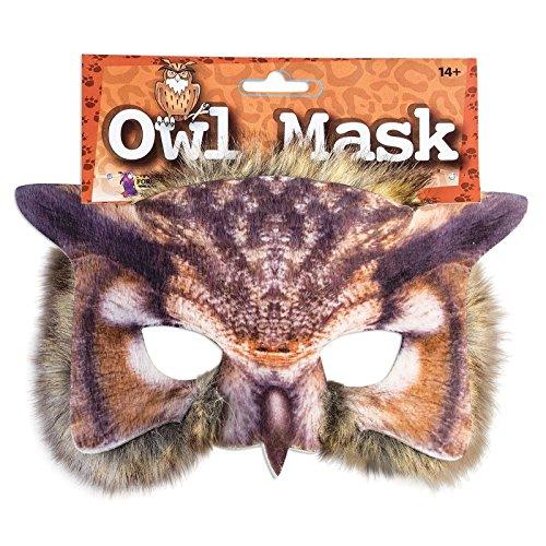 Realistisch Gesicht-maske Buchwoche Tier Zoo Dschungel Wald Creature Karneval Gesichtsmaske für Erwachsene und Kinder - Owl (Kind Fancy Dress)