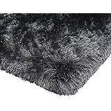 Alfombra moderna del Shaggy Shag pila larga Plomada Alfombra 120x170cm Pizarra Marrón / gris