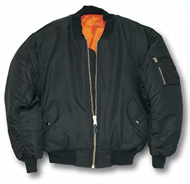 MA1 Bomber Flight Jacket With Heavy Brass Zip: Amazon.co.uk: Clothing