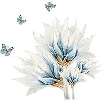 Stickers muraux autocollants muraux pour intérieur de salon Motif pensées bleues 30 x 90 cm