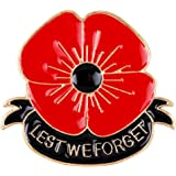 Poppy flower brooch round Poppy Brooch Pin Badge Remembrance Day Gift