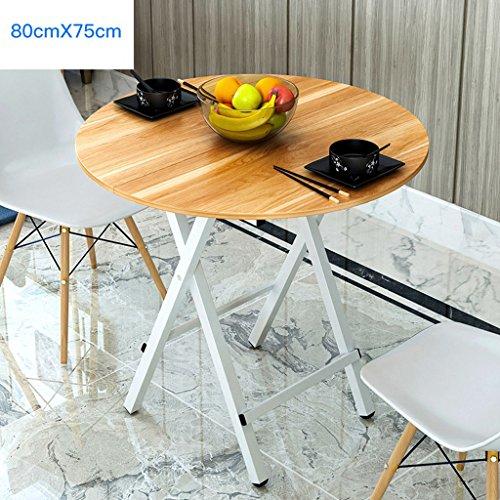 Haushalt Runder Tisch Esstisch Klapp Wohnzimmer Computer Schreibtisch Balkon Tisch 80 * 75 cm (...