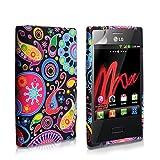 Yousave Accessories Cover per LG Optimus L3 E400, in Silicone, motivo medusa, colore: multicolore