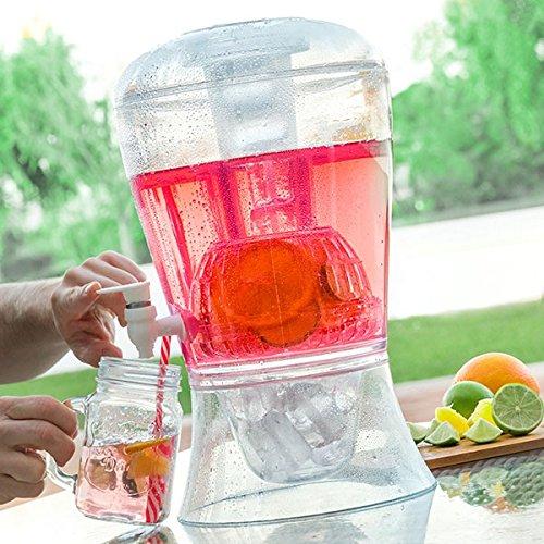 Fontaine à Boisson réfrigérante 7,5L avec Robinet – Idéale pour Vos réceptions d'été, d'Hiver en intérieur comme extérieur.