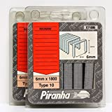 Piranha X71006type 10agrafes 6mm Rocagraf ROC 22, 25, ROC 310(5packs)