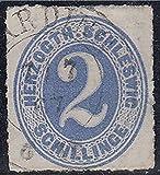Goldhahn Schleswig-Holstein Nr. 16 gestempelt Geprüft Briefmarken für Sammler
