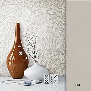 NEWROOM Blumentapete Tapete silber Blätter Floral Vliestapete metallic Vlies moderne Design Optik Tapete Modern inkl. Tapezier Ratgeber