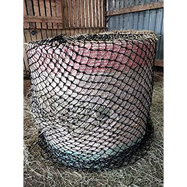 EQUIPRIDE ROUND BALE HAY NET HAYLAGE SLOW FEEDER SMALL HOLES AND 6 FEET BALES