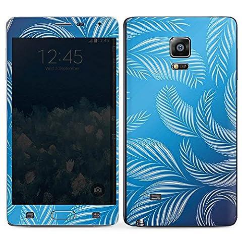 Samsung Galaxy Note Edge Case Skin Sticker aus Vinyl-Folie Aufkleber Palmen Blätter Blau