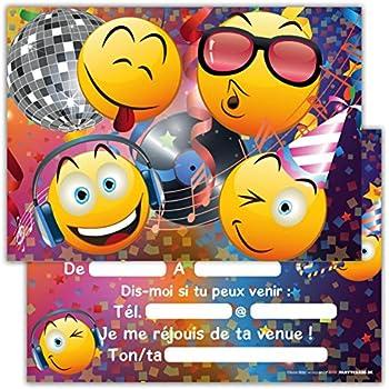 Lot de 12 cartes d 39 invitation pour anniversaire partie - Jeux de fille cuisine et patisserie gratuit en francais ...