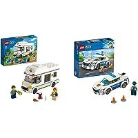 LEGO City Camper Delle Vacanze Giocattolo, Costruzioni Per Bambini, Playset Per Le Vacanze Estive & City Police Auto Di…