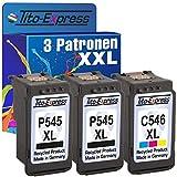 PlatinumSerie® Set 3x Druckerpatrone XXL für Canon PG-545XL & CL-546XL IP2850 MG2550 MG2500 Series MG2440 MG2450 MG2540 MG2550 S MG2555 MG2555 S