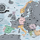 Europakarte zum Rubbeln - Scratch Off Europe Map - Landkarte
