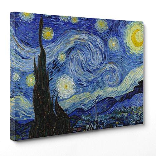 Bild auf Leinwand Canvas–Gerahmt–fertig zum Aufhängen–Van Gogh–Starry...