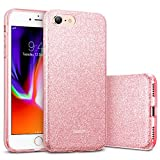 Cover iPhone 8 [Supporta la Ricarica Wireless], Cover iPhone 7, ESR Custodia Lucciante con Brillantini/Glitters [Esterno Morbido di TPU, Interno Duro di PC][Ultra Sottile], Designer Case per Apple Nuovo iPhone 8/7 da 4.7 pollici. (Oro Rosa)