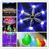 12 Stücke Mini Batteriebetriebene LED Ballon Lichter Nicht Blinzelnde Party Lichter Für Papierlaternen Ballons LED-Licht, Hochzeit Dekoration Licht + 12 Stücke Ballons (Blau)