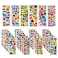 WeNet 3D Puffy Stickers Craft Stickers for Kids(1500+Count) 22 Assortment Set Craft Scrapbooking Bullet Journals Stickers