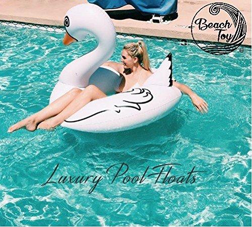 Beach toy ® - gigante galleggiante gonfiabile cigno bianco, consegna ultra veloce