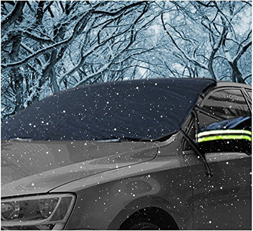 Frontscheibenabdeckung Winter - Auto Frontscheibe Schneeabdeckung Sonnenschutz Sonnenblende Windschutzscheiben Abdeckung Faltbare Abnehmbare Anti-Schnee Wind Frost optima für Limousine,mit GARANTIE (Viele Seiten Tun Wie)