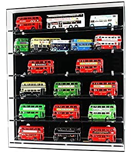 Acrylic Wall Display Case for 1:76 Model Buses - 6 Shelves