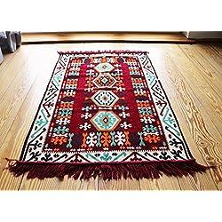 110 cm x 70 cm Alfombra Oriental, Kelim, Kilim, Carpet,Manta al Suelo , Rug nuevo de Damaskunst S 1-2-2