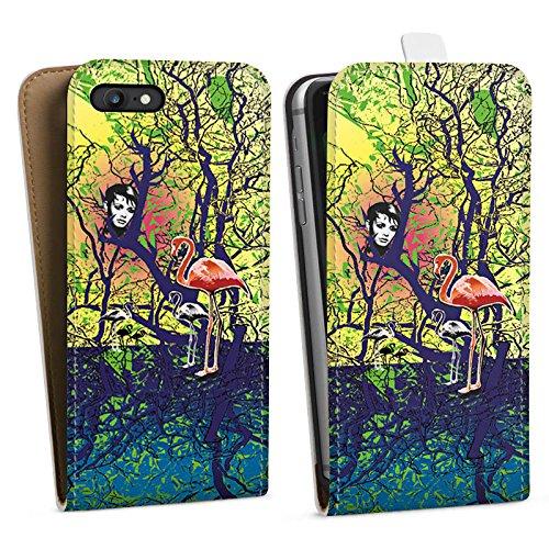 Apple iPhone X Silikon Hülle Case Schutzhülle Flamingo Wald Zaubern Downflip Tasche weiß