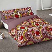 Burrito Blanco - Juego de Funda nórdica 081 para cama 150x190/200 cm, color coral
