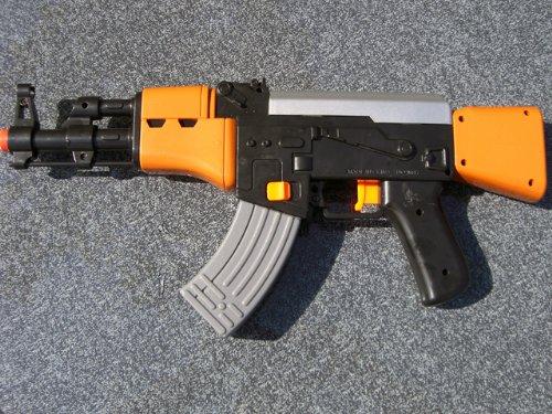 Brigamo - Pistola de agua (semiautomática, funciona con pilas), diseño AK 47