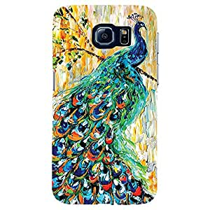 Pecock - Mobile Back Case Cover For Samsung Galaxy S6