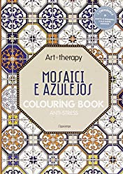 Art therapy. Mosaici e azulejos. Colouring book anti-stress