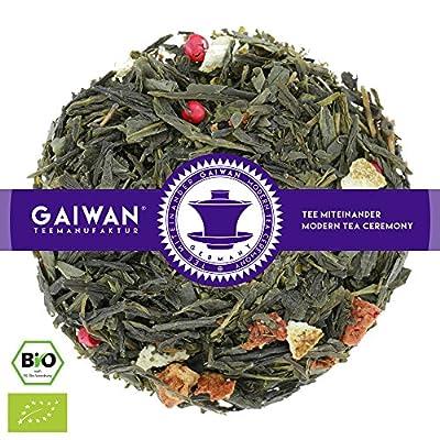 """N° 1397: Thé vert bio """"Magic Spring (printemps magique)"""" - feuilles de thé issu de l'agriculture biologique - GAIWAN® GERMANY - Sencha vert de Chine, saveur naturels, poivre rouge, fraises, citron, orange"""