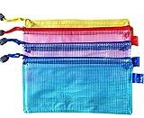 aikesi Mesh Zipper Document Bag Büro Lieferungen Business Trip Accessories (10Teile für verkaufen) B5 Mehrfarbig-2