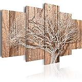 murando - Bilder 200x100 cm Vlies Leinwandbild 5 TLG Kunstdruck modern Wandbilder XXL Wanddekoration Design Wand Bild - Baum Holz Bretter b-C-0046-b-o