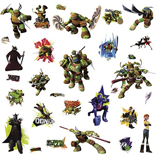 Image of RoomMates Repositionable Children's Wall Stickers - Teenage Mutant Ninja Turtles