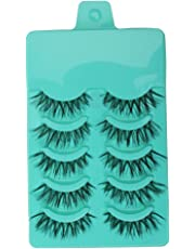 Magideal 5 Pairs Beauty Makeup Handmade Messy Cross Style False Eyelashes Green